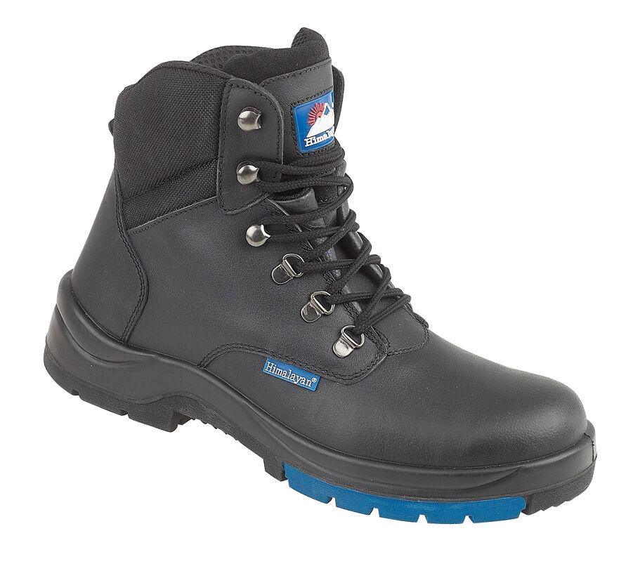 Dell' Himalaya 5104 S3 SRC PELLE NERA hygrip Hiker Punta In Acciaio Tappo Stivali di Sicurezza PPE
