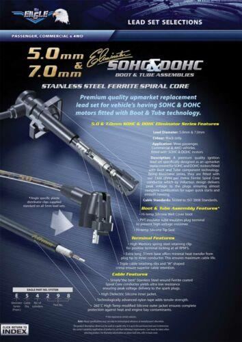 Eagle 7mm Ignition Spark Plug Leads 6cyl Fits Mitsubishi Magna TH TJ TL TW 99-05