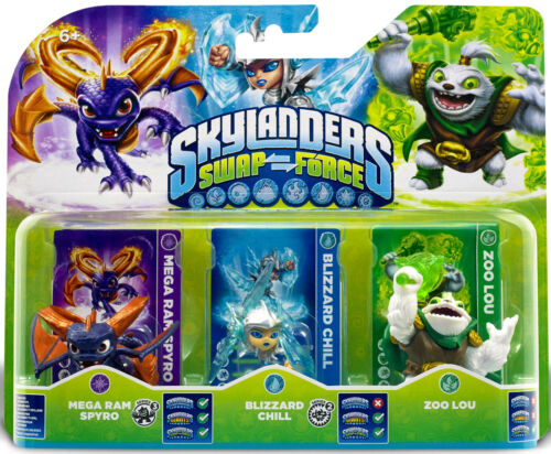 Skylanders swap force triple figure personnage packs-entièrement neuf sous emballage