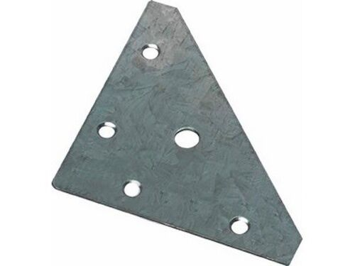 4 HAFELE FLAT GALVANISED STEEL CORNER BRACE 82 X 82mm