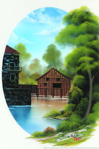 Bob-Ross-Country-Time-Art-Print-Painting-Poster-12x18-inch