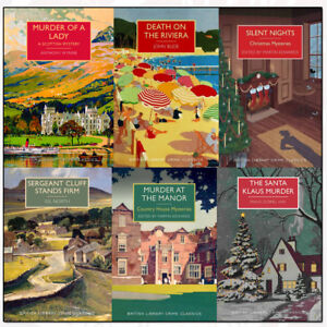 British-Library-Crime-Classics-Series-4-Collection-6-Books-Set-Murder-of-a-Lady