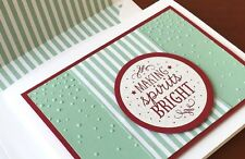 Stampin Up! Softly Falling Textured Impressions Embossing Folder –  New