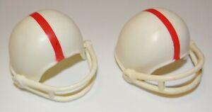 1986 HG Toys Sport Freaks Lot Of Two Football Helmet Figure Accessories
