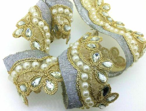 Job lot  Fancy Bridal Lace Trim Ribbon Sewing Craft Wedding Saree Border