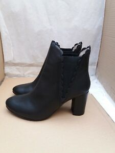 hottest sale huge sale casual shoes Details about BODEN Alnwick Ankle Boots - Black Leather - Size UK 6/EU 39  RRP - £140