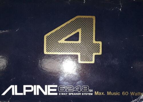 "Alpine 6248SX 4/"" Midrange Car Audio 2-Way Speaker System 2 BRAND NEW!"