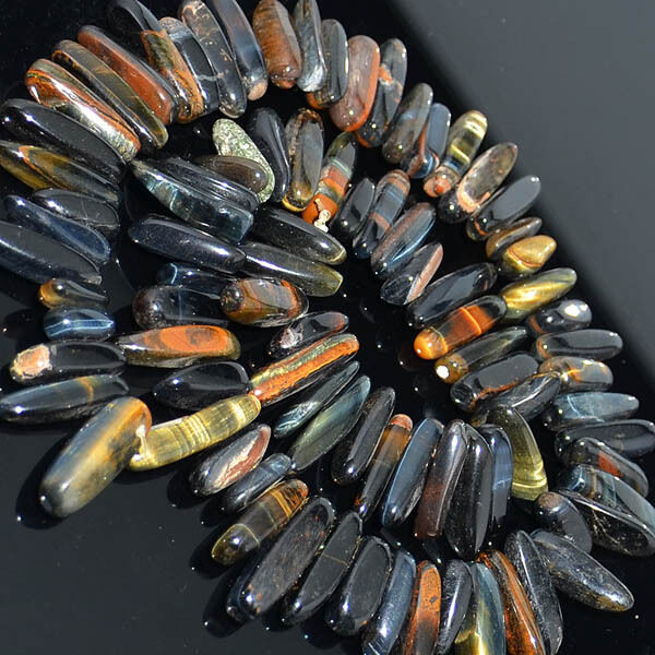 """Natural stone 6x20mm Oblong Nugget Loose Beads 7.5"""" Pick Gemstone"""