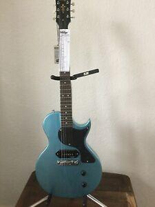 Vintage LP Junior Electric Guitar V120 GHB [GUN HILL BLUE]