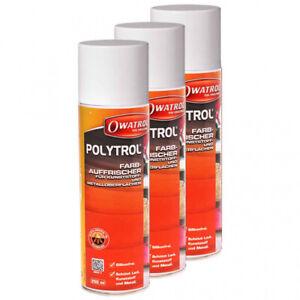 3-x-Owatrol-POLYTROL-spray-250-ml-plastique-soins-Nettoyant-farbauffrischer