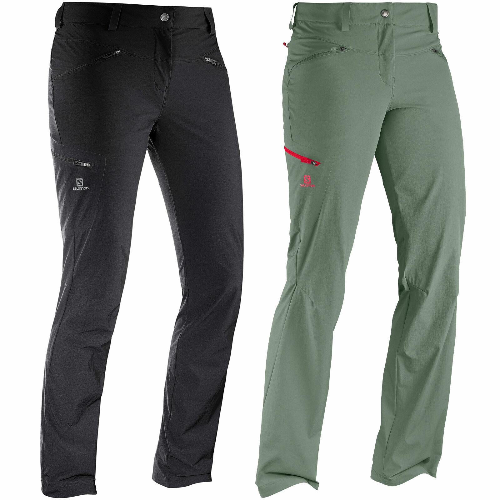 Salomon WAYFARER PANT DONNA TREKKING PANTALONI outdoorhose funzione Pantaloni Wanderhose