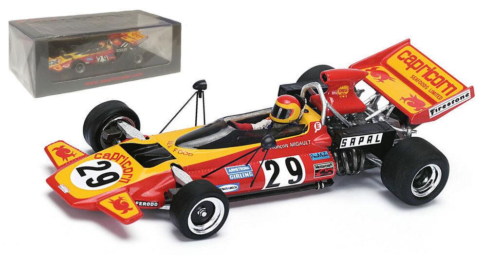Spark S4255 Darnval-Connew PC1 Austrian GP 1972 - Francois Migault 1 43 Scale