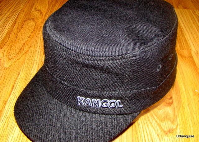 Kangol Black Textured Wool Flexfit Army Cap Style K0471fa L xl for ... 798645500636