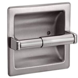 Image Is Loading Recessed Toilet Paper Holder Brushed Nickel