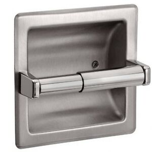 Recessed toilet paper holder brushed nickel - Brushed nickel standing toilet paper holder ...