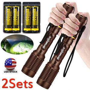 5Modes US Super Bright Tactical 350000LM LED Flashlight Aluminum Zoom Torch Camp