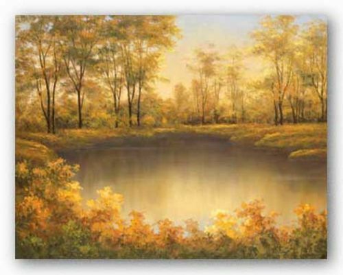 LANDSCAPE ART PRINT In Full Bloom by Diane Romanello Floral Garden Poster 26x36