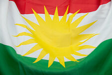 Kurdistan national Flag - kurdish flag - 3' x 5' - 90 cm x 150 cm - Banner