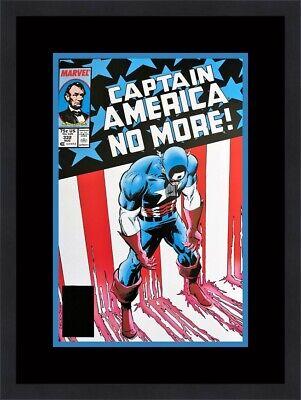 Captain America Marvel Comic Cover 332 Custom Gallery Framed Ebay