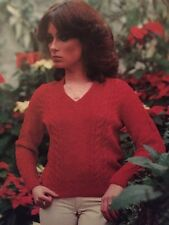 "FL16 Knitting Pattern - Shetland Wool DK V-neck Jumper - 4 Sizes- 34-40"" Chest"
