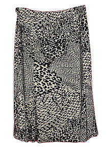 JM-Collection-Black-White-Animal-Print-Full-Cut-Knit-Skirt-Womens-Plus-Size-3X