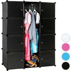 etag re enfichable armoire penderie v tements rangement syst me clip ebay. Black Bedroom Furniture Sets. Home Design Ideas