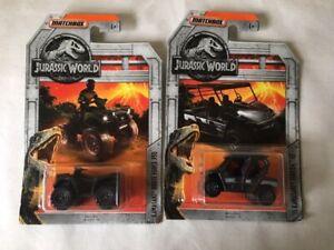 Matchbox-Jurassic-World-Vehicles-x-2-New-and-Sealed