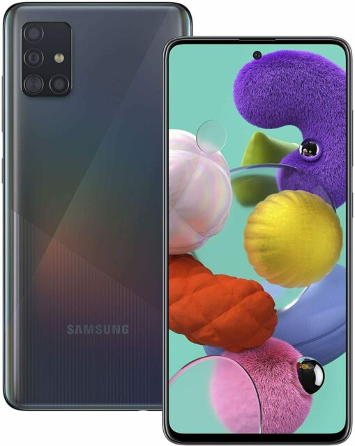NEW Samsung Galaxy A51 Black 6GB RAM 128GB 4G LTE Dual SIM Unlocked Smartphone