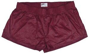 Burgundy-Shiny-Short-Nylon-Shorts-by-Soffe-Size-XL