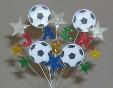 Football Soccer Birthday Cake Topper Decoration Personalised with Any Age +Name