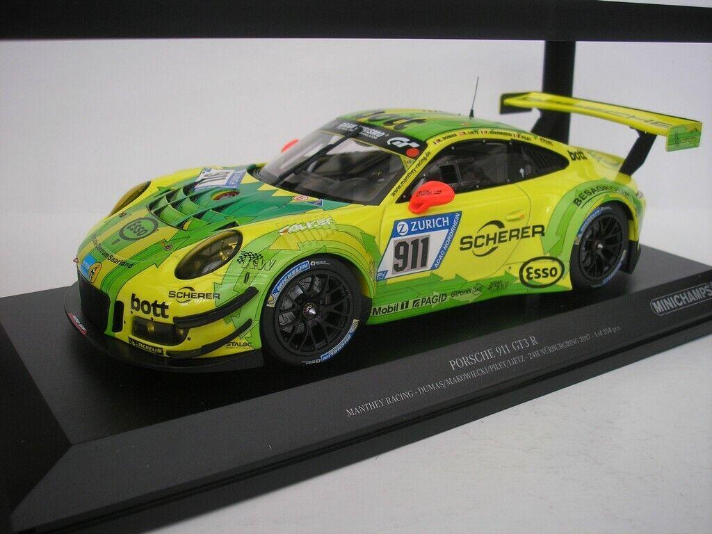 Porsche 911 GT3 R  911 24h Nürburgring 2017 Dumas 1 18 Minichamps 155176911 NEW