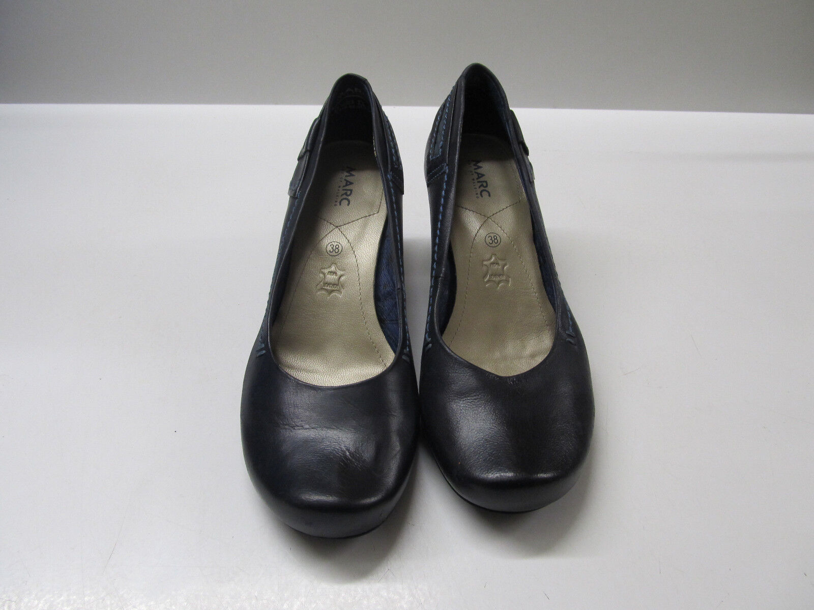MARC Damen Pumps Gr. 5 - - - 38 - Leder - blau d42