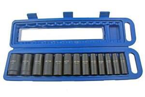 "US Pro 13pc 1//2/""dr Deep Impact Sockets Metric 12 point Bi-Hex 13-32mm 1683"