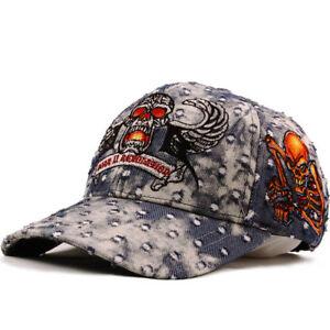 ef17cc00f15 J2R Legend Ball Cap Unique Embroidered Design Fire Jean Cap Hat Blue ...