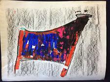 Expressionnisme taureau Camargue expressionniste technique mixte anonyme France