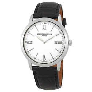 Baume-et-Mercier-Classima-White-Dial-42mm-Men-039-s-Watch-10414