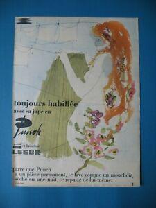 PUBLICITE-DE-PRESSE-LESUR-TISSUS-PUNCH-DRALON-ET-LAINE-JUPE-VETEMENT-AD-1957