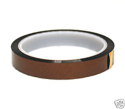 1 Reel Polyimide Film High Temperature Voltage Insulation Tape Amber W=25mm