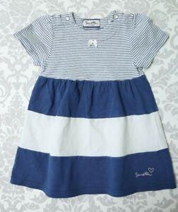 SANETTA Baby Kleid Sommerkleid gestreift blau Gr.74 Bio ...