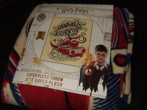 New Harry Potter Hogwarts Express Train 9 3/4 Magical Plush Fleece Throw Blanket
