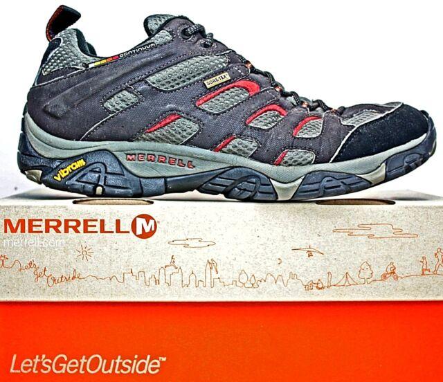 8f945c6d59d Merrell Mens Moab Sz 11 Gore Tex Continuum Vibram Trail Hiking Shoes J87323