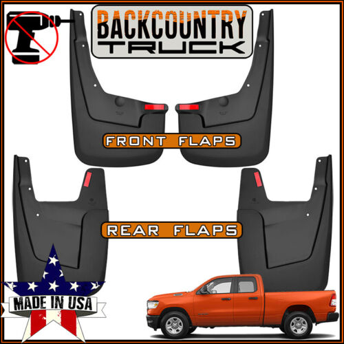BackCountryTruck NO DRILL Mud Flaps fit NEW BODY 2019 Ram 1500 W//O Fender Flares