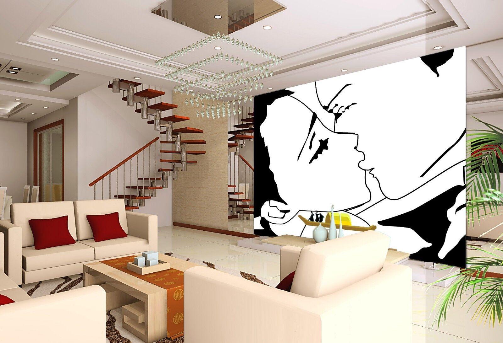 3D Sketch 4200 Wallpaper Murals Wall Print Wallpaper Mural AJ WALL UK Lemon