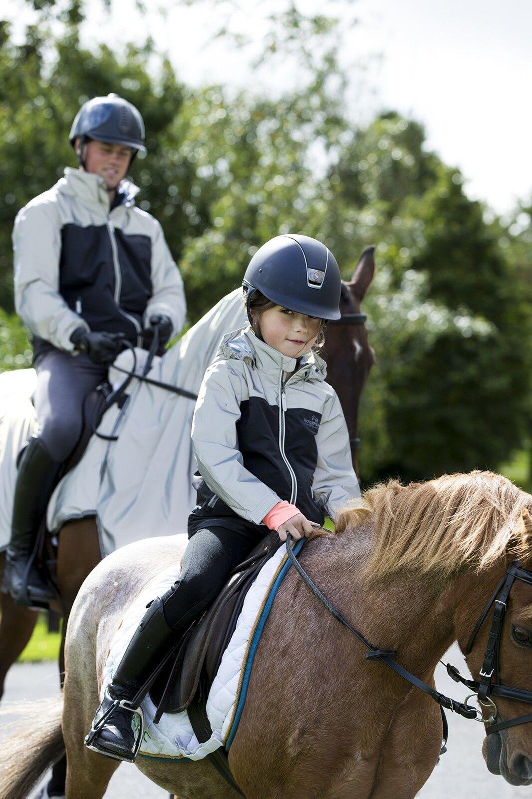Horseware Bambini Riflettente Alta Vis Corrib Giacca GrigioNero 3 12 anni