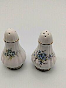 Vintage-Paragon-Fine-Bone-China-Salt-amp-Pepper-Shakers-Remember-Me-pattern