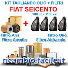KIT TAGLIANDO FIAT SEICENTO 900 1100 FILTRI + 4 LT OLIO Q8 10W40 OFFERTA FIRE