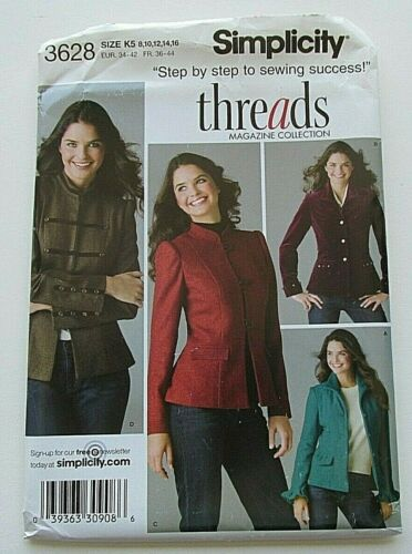 Simplicity 3628 Misses Jacket Blazer Pattern Easy to Sew Sizes 8-24 New//Uncut
