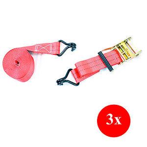 3x-DynaSun-FH45616-Cinghia-Fissaggio-Cricchetto-Nastro-Tenditore-Cintura-e-Ganci