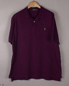Polo Ralph Lauren Hommes Décontracté Col Polo T-Shirt Taille 2XL (XXL) BCZ713
