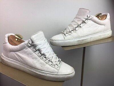 Balenciaga Arena Tumbled Leather White